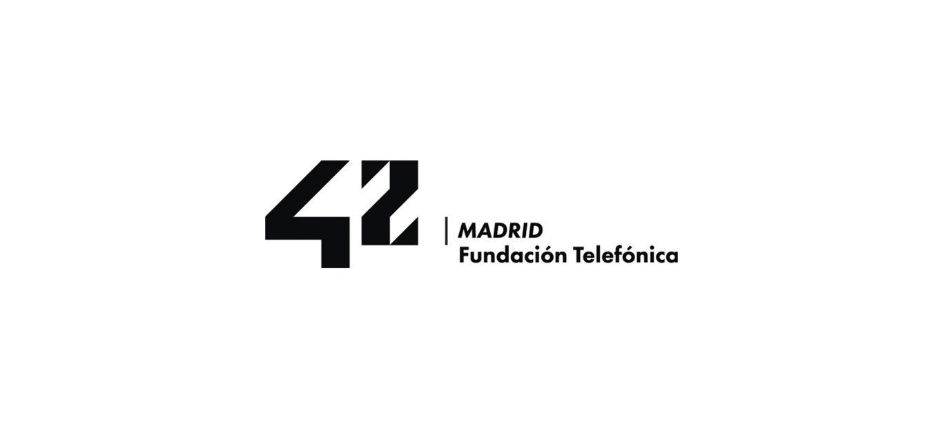 Logo 42 Madrid Blanco
